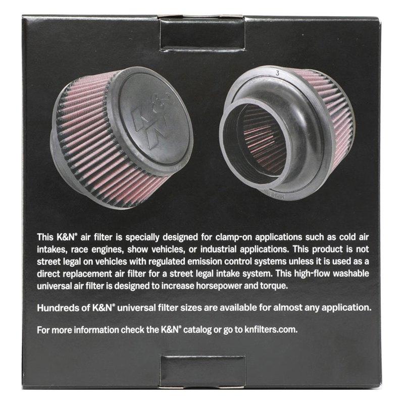3/'/' Flange Inside Diameter part #RU-5288 Universal K/&N Clamp-On Air Filter