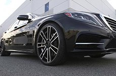 KOKO KUTURE® - MASSA-7 Black with Machined Face on Mercedes S Class