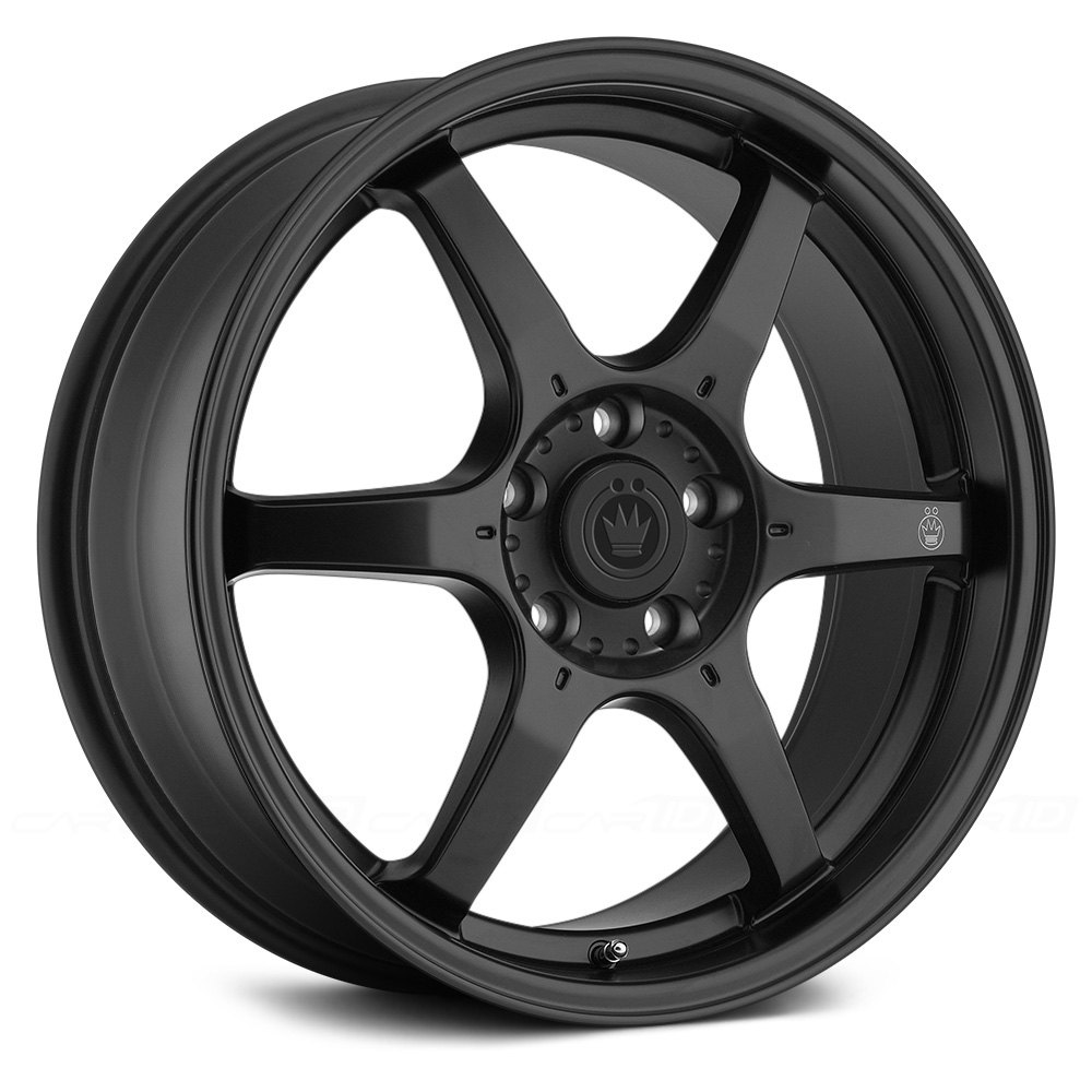 Konig 174 Backbone Wheels Matte Black With Milled Logo On