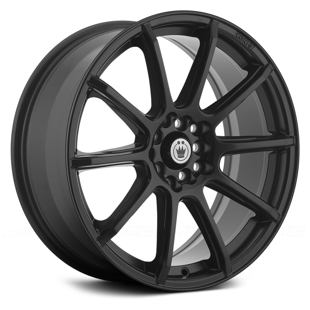 Konig 174 Control Wheels Matte Black Rims