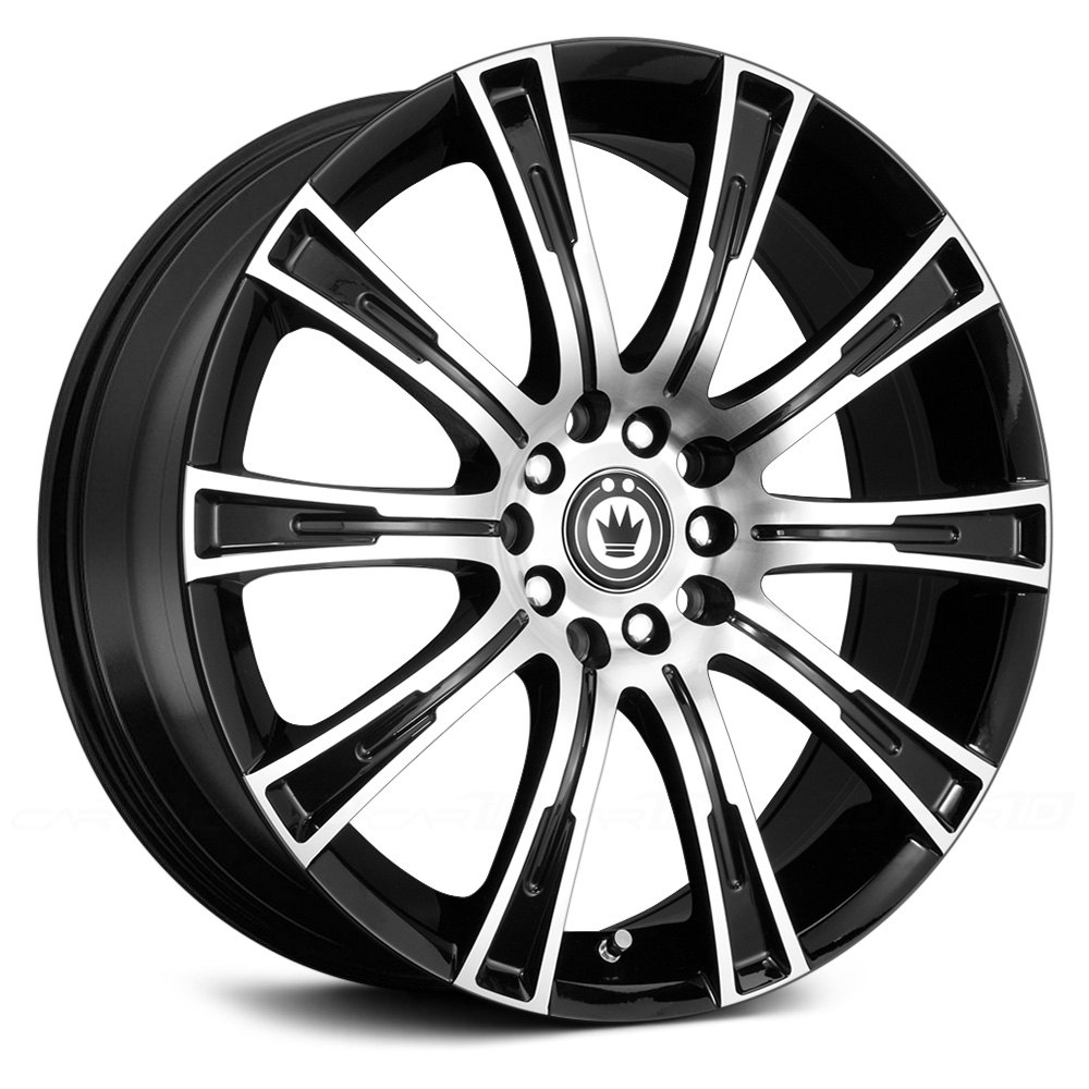 Konig 174 Crown Wheels Gloss Black With Machined Face Rims