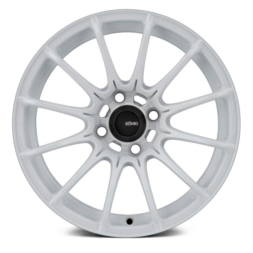 White Wheel Rims : Konig dial in wheels gloss white rims
