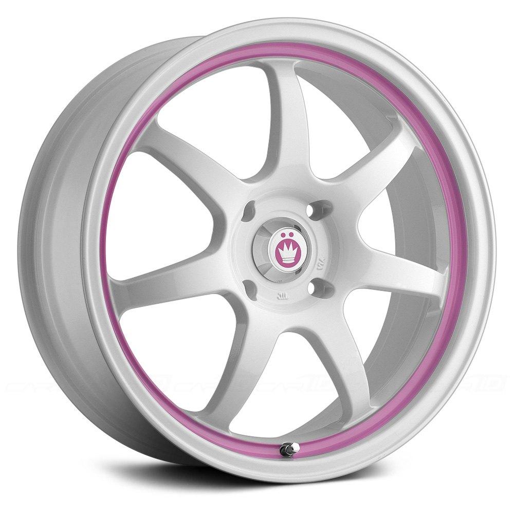 White Wheel Rims : Konig forward wheels white with pink stripe rims