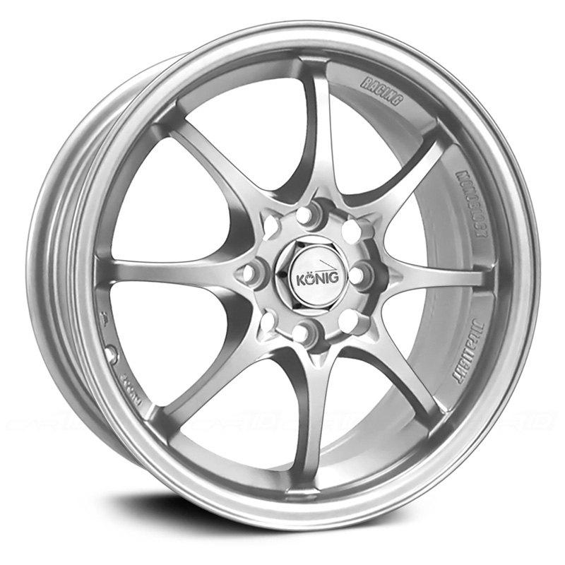 Konig Helium Wheel 15x6 5 40 4x100 73 1 Silver Single Rim