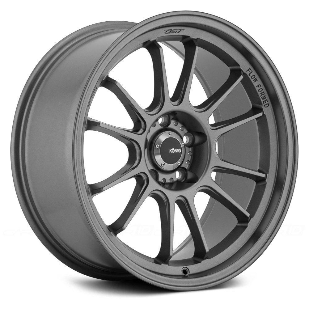 Konig 174 Hypergram Wheels Matte Grey Rims