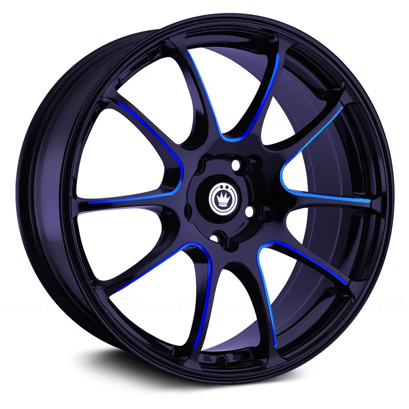 Black With Blue Ball Cut Machined
