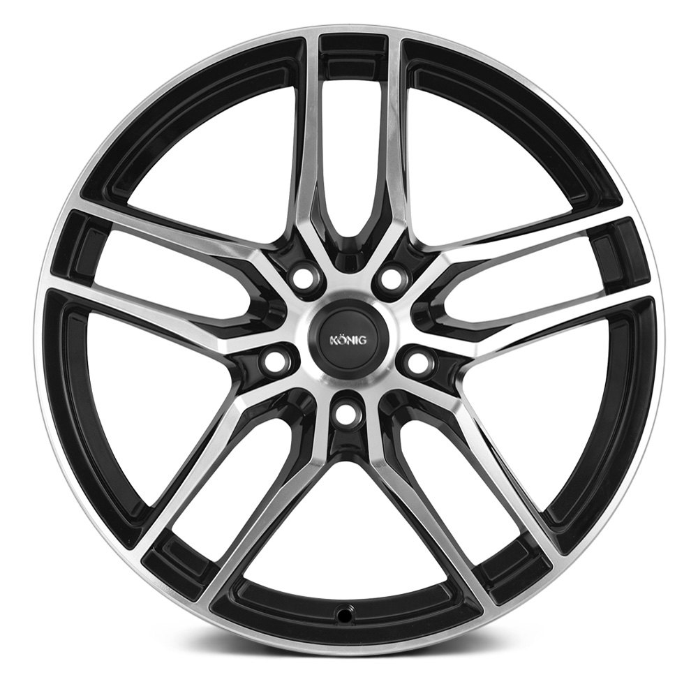 Intention Gloss Black With Machined Face Barrel Viewkonig Intention Gloss Black With Machined Face On Ford Edge