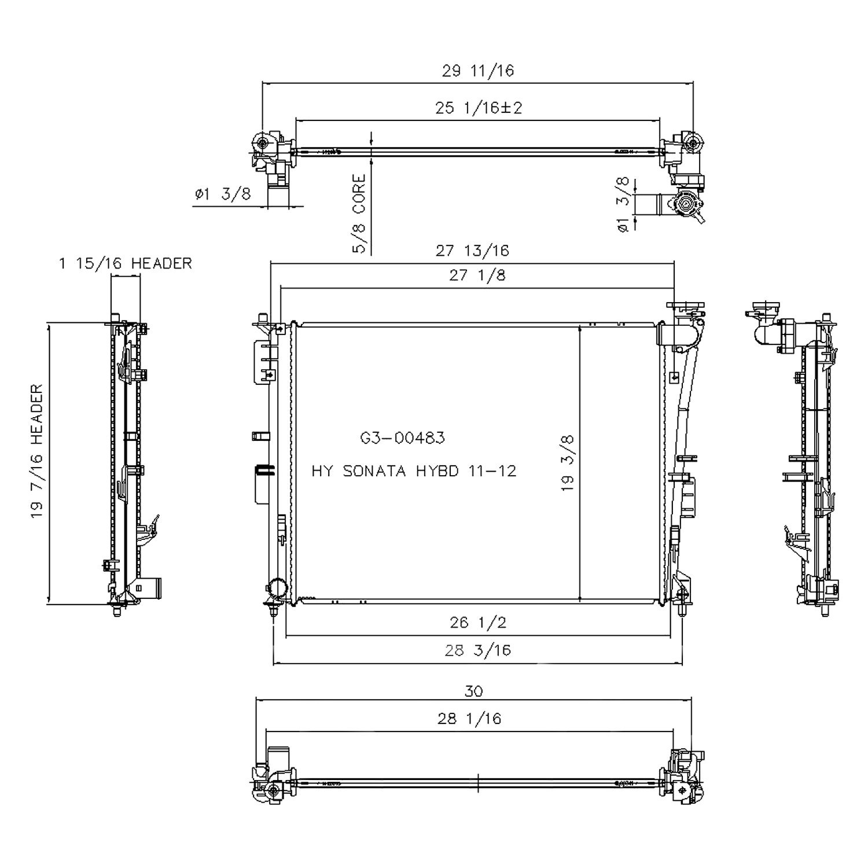 Hyundai 3 8 Engine Diagram Wiring Library Kia 2 0 Gdi Diagrams Koyorad Tyc Coolant Radiator