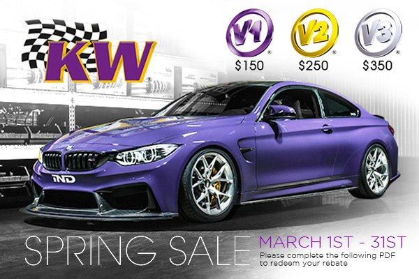 Choose one of KW Suspensions Coilover Kits at CARiD and Get