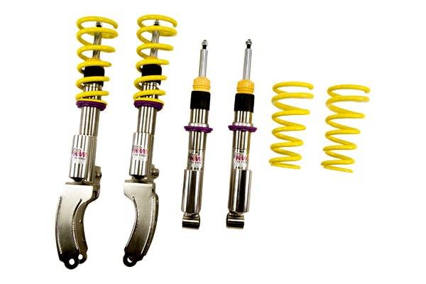 Kw suspensions audi q7 2010 inox line coilover lowering kit for Suspension inox