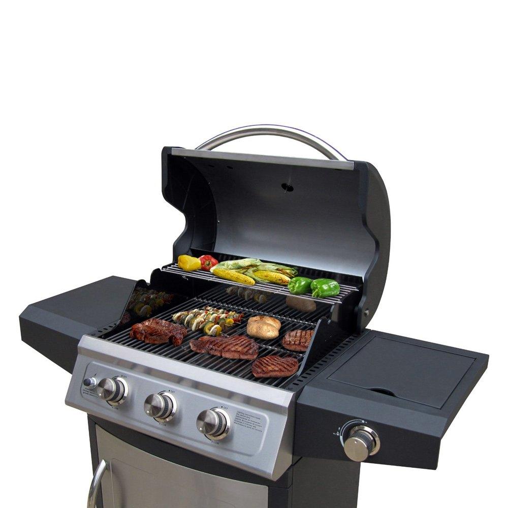 landmann 42209 falcon 3 burner grill with side burner. Black Bedroom Furniture Sets. Home Design Ideas