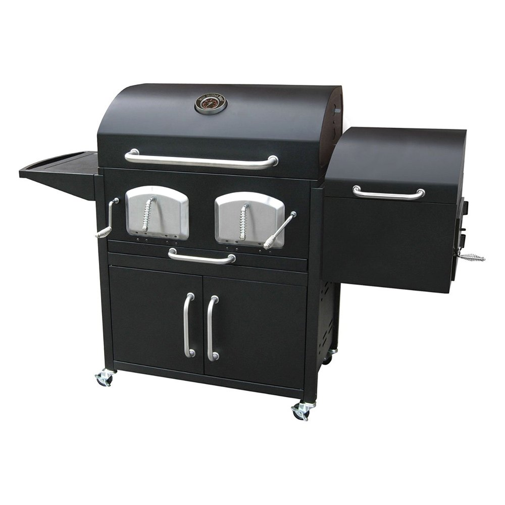 landmann 591320 bravo premium charcoal grill with offset smoker box. Black Bedroom Furniture Sets. Home Design Ideas
