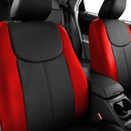 Leathercraft® - Custom Leather Seat Covers - Red & Black