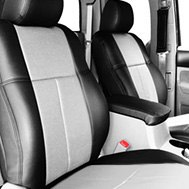 Leathercraft® - Custom Leather Seat Covers - Gray & Black