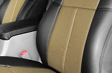 Leathercraft® Black & Yellow Leather Seat Covers