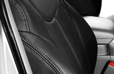 Leathercraft Black Leather Seat Cover