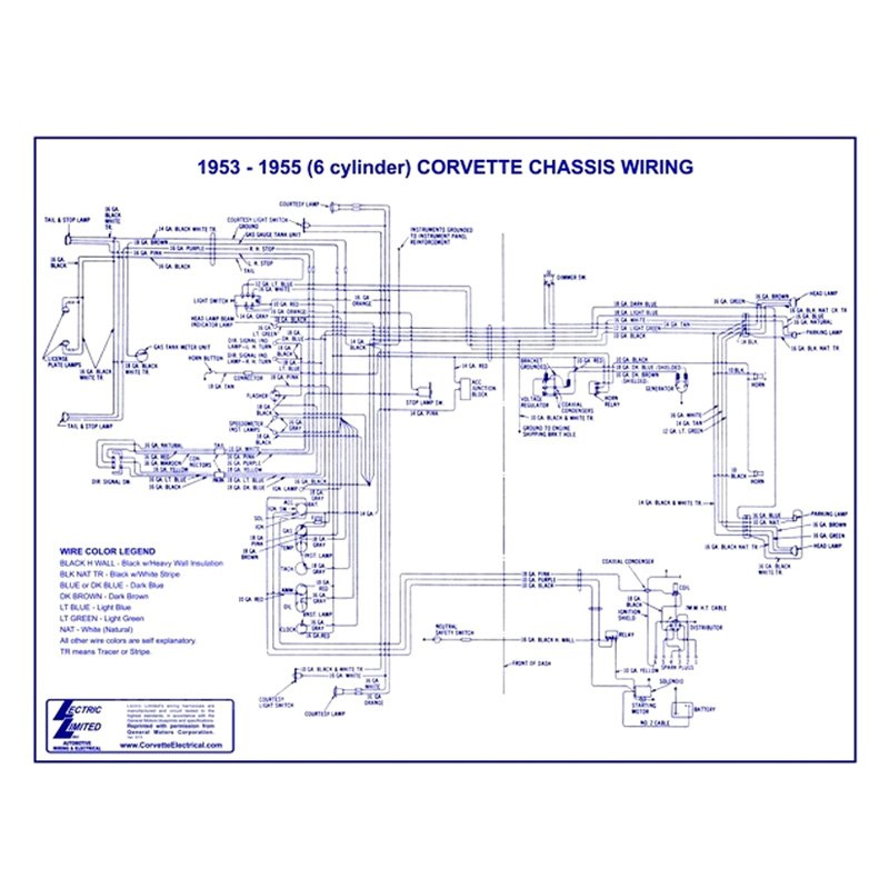 1955 corvette wiring diagram lectric limited   chevy corvette 1955 wiring diagram  chevy corvette 1955 wiring diagram