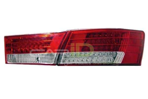 Hyundai Sonata Hybrid Tail Lights. Red/Clear LED Tail Lights