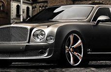 LEXANI ARTIS® - NOUVEAU ZLT Custom Painted with Copper Inserts on Bentley Mulsanne