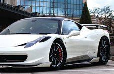 Lexani 108 Deep Concave Forging Custom Painted on Ferrari 458