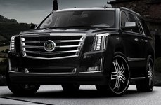 Lexani Tristo Black with Machined Face Cadillac Escalade