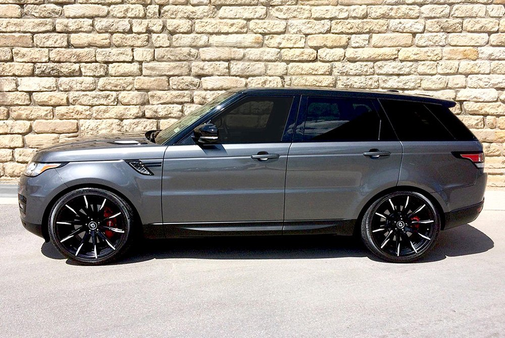 Lexani 15 css wheels gloss black with machined tips and exposed lugs rims