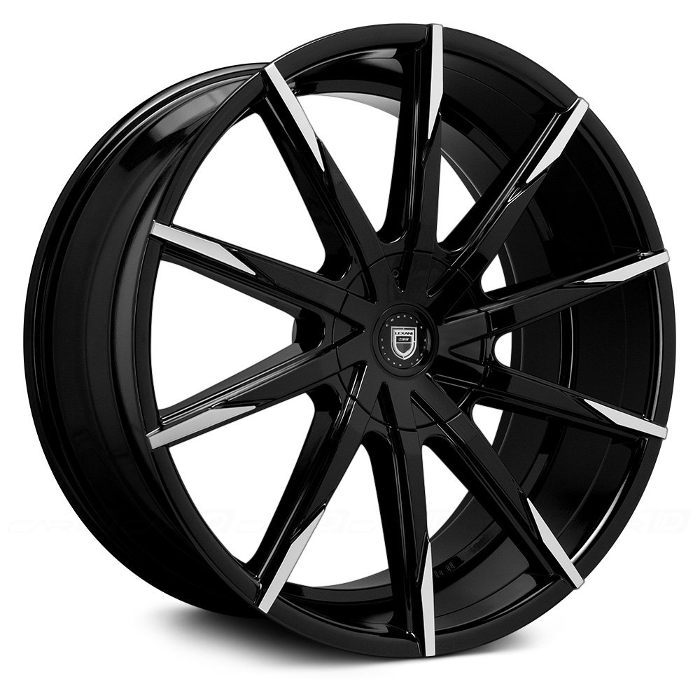 Lexani 174 Css 15 Wheels Gloss Black With Machined Tips Rims