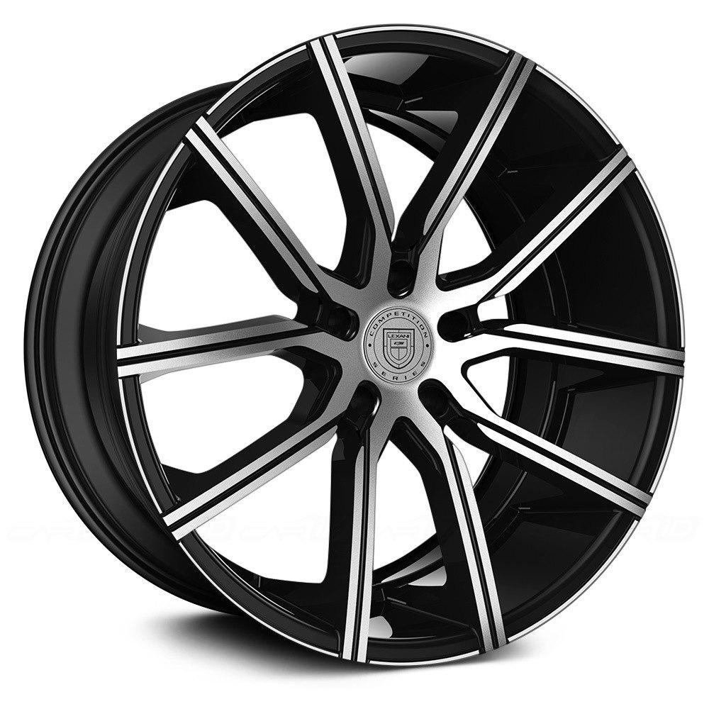 Lexani 174 Gravity Wheels Gloss Black With Machined Face Rims