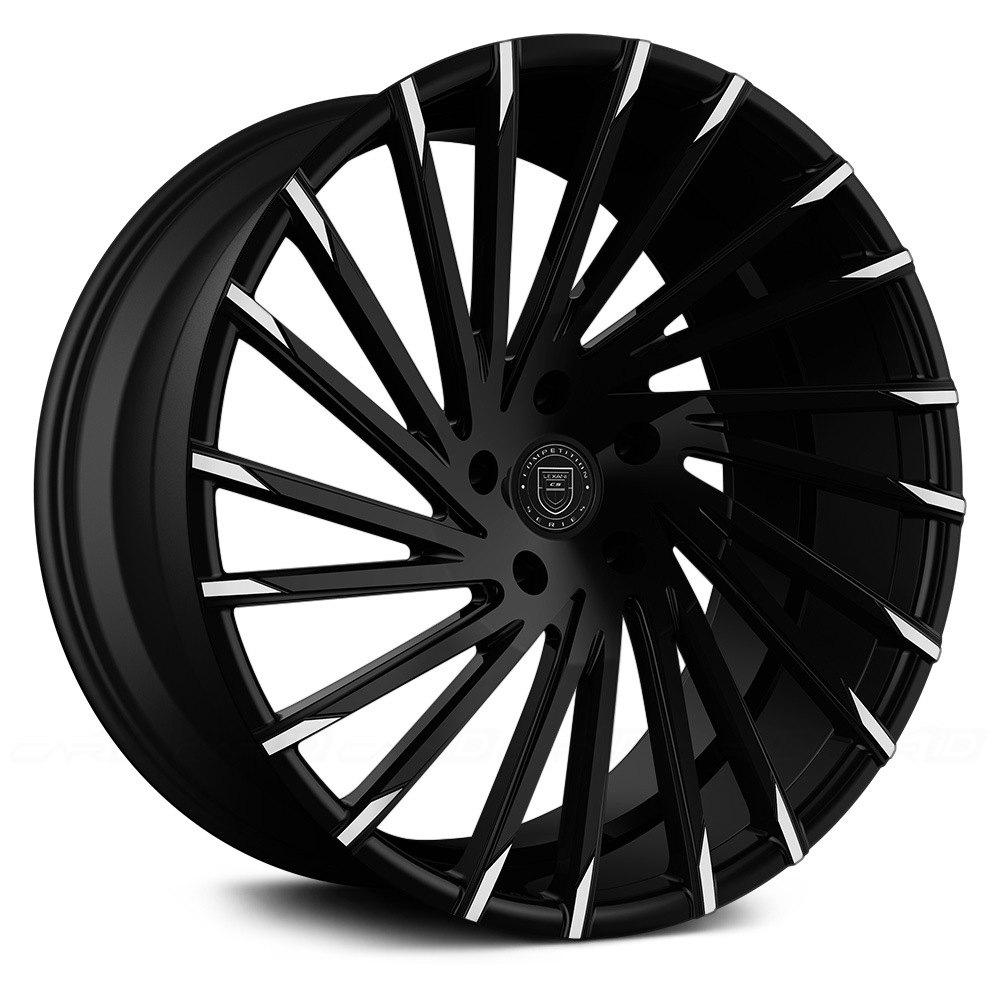 Lexani 174 Wraith 1pc Wheels Gloss Black With Machined Tips