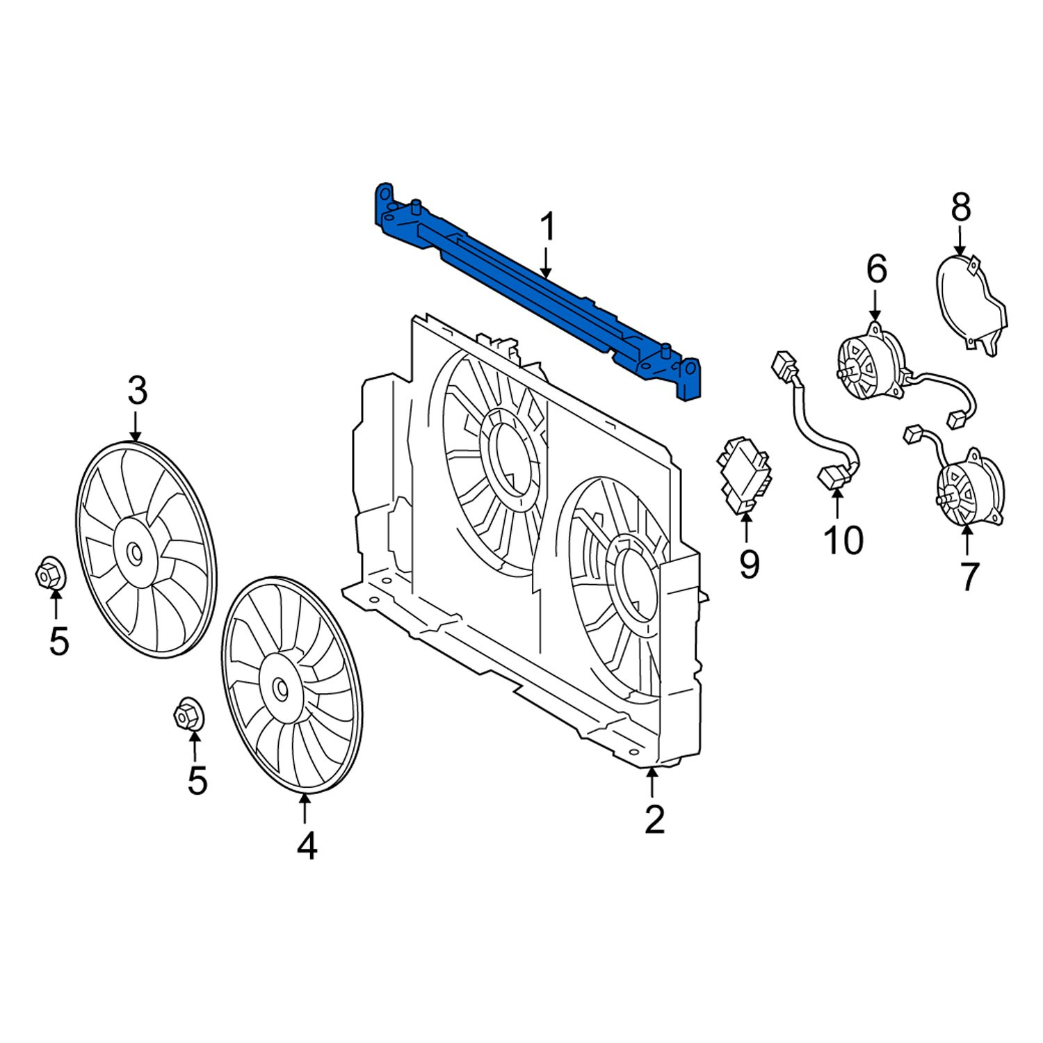 [DIAGRAM_38DE]  Lexus OE 1671236040 - Front Upper Engine Cooling Fan Shroud | Lexus Engine Cooling Diagram |  | CARiD.com