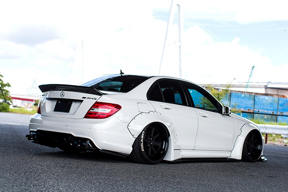 liberty walk mercedes c63 amg coupe w205 body code 2013 lb works complete body kit. Black Bedroom Furniture Sets. Home Design Ideas