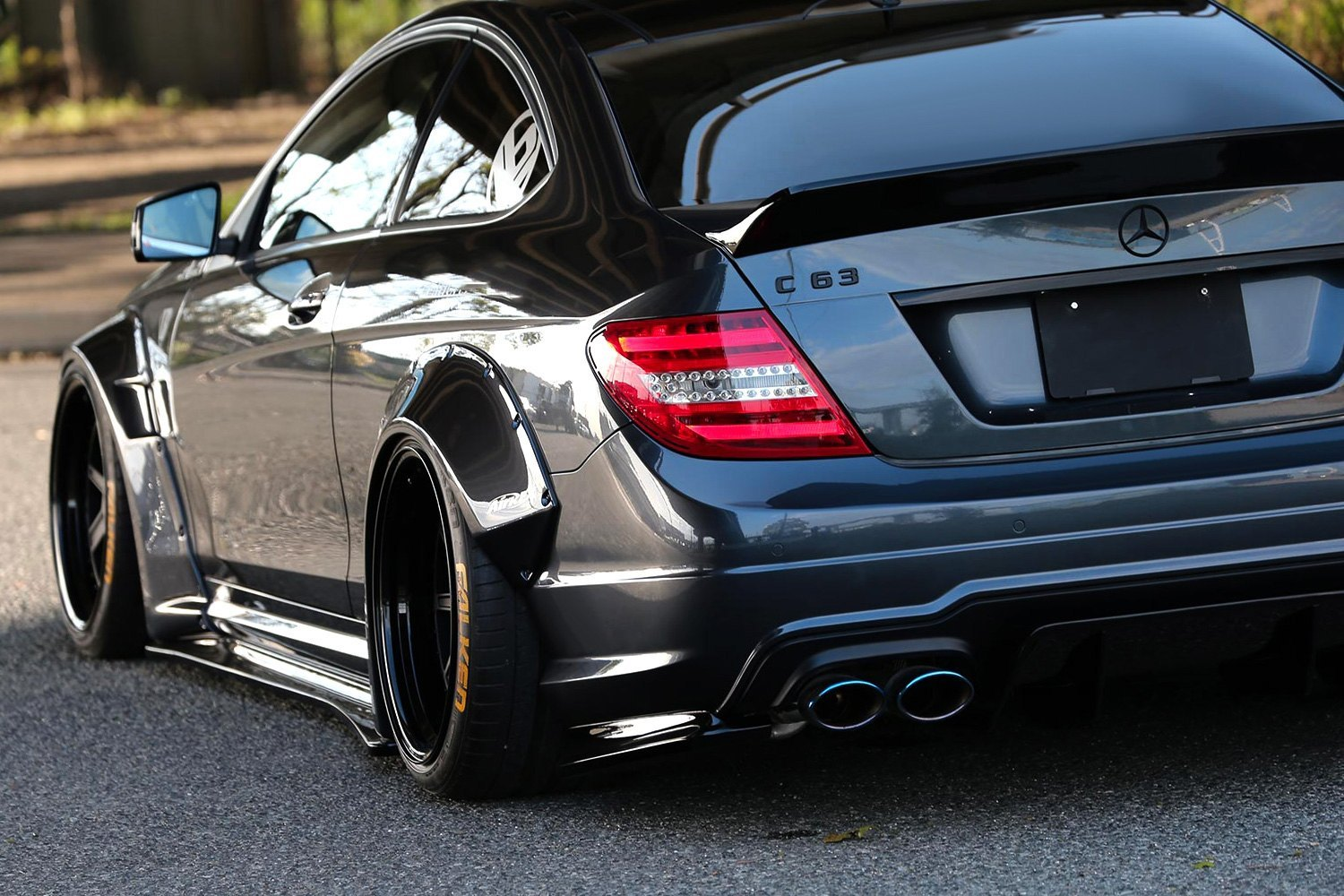 liberty walk mercedes c63 amg coupe w205 body code 2013. Black Bedroom Furniture Sets. Home Design Ideas