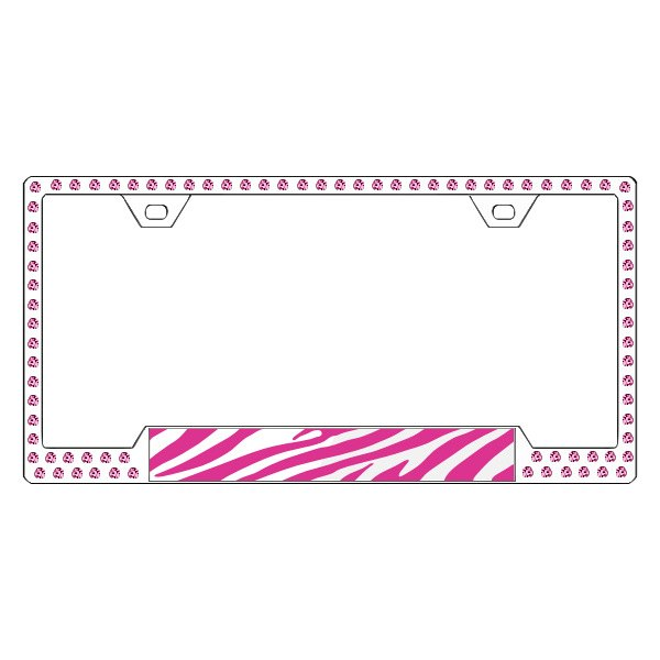 License 2 Bling® G11-CHROME-ROSE-1x1-ZEBRA - Graphic Series Zebra