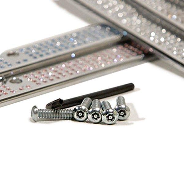 Mercedes benz chrome license plate frame w swarovski for Mercedes benz tag screws
