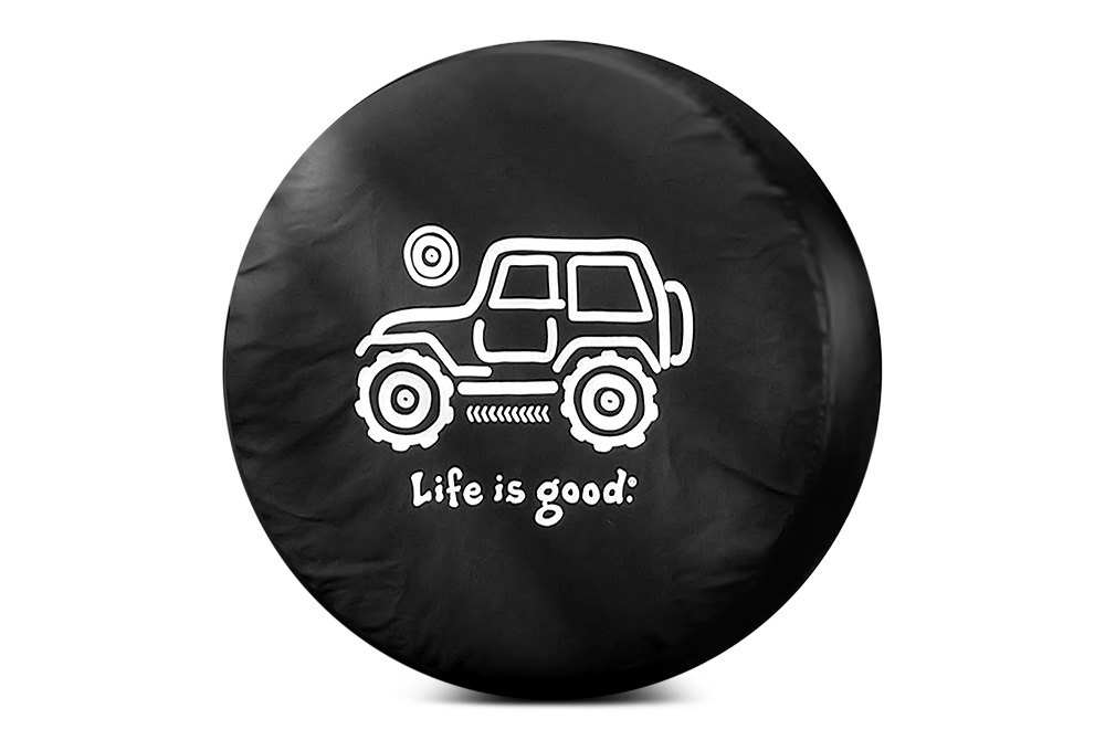 life is good spare tire covers. Black Bedroom Furniture Sets. Home Design Ideas
