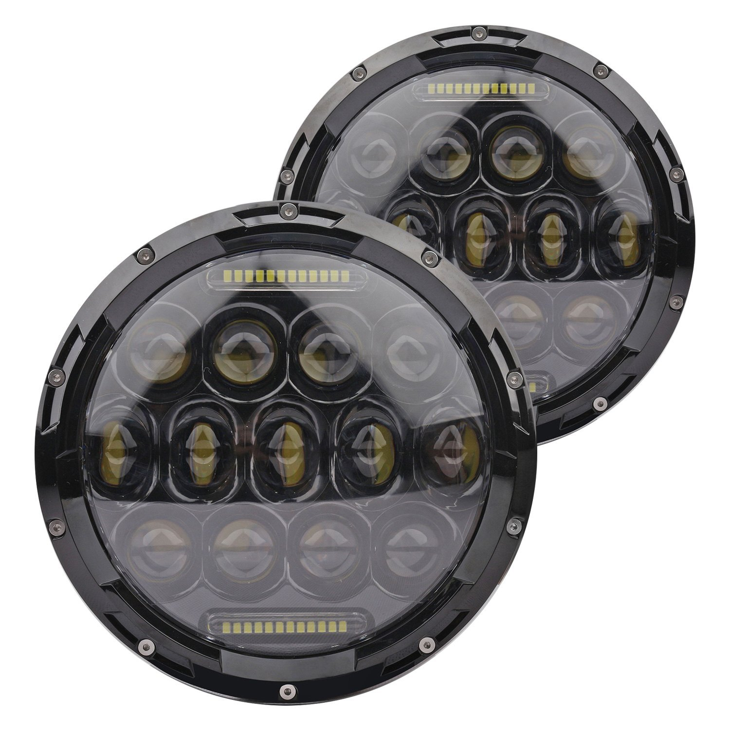 Lifetime Led Lights Jeep Wrangler 2013 7 Round Black Projector Led Headlights With Drl