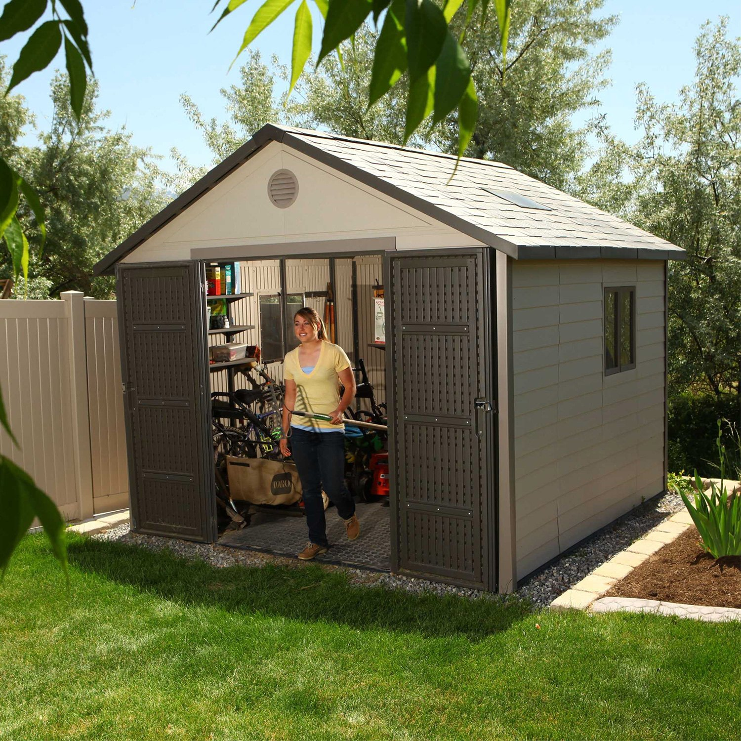 outdoor trimetals urban shed best the sheds bicycle backyard bike storage