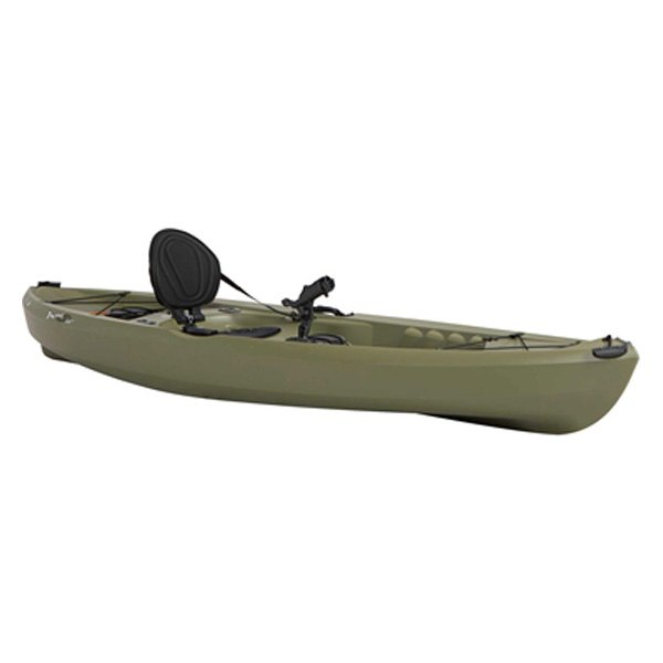 Lifetime 90539 tamarack 10 39 olive sit on top angler for Tamarack fishing kayak