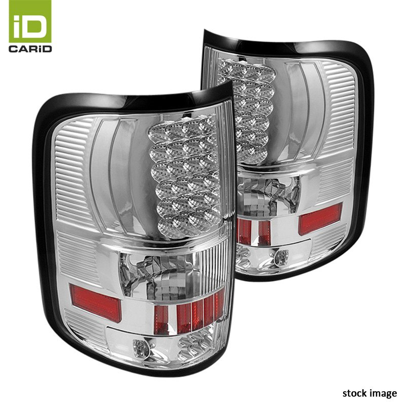 chrome led tail lights by spyder fits ford f 150 styleside 2006 2008. Black Bedroom Furniture Sets. Home Design Ideas