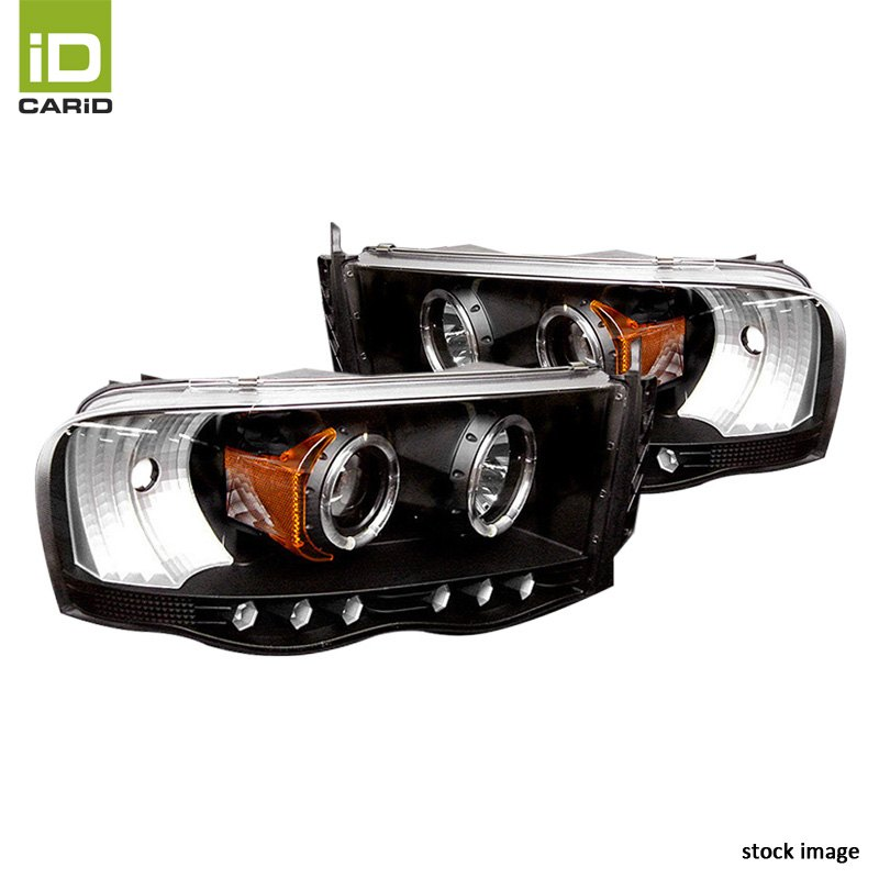 black halo projector led headlights by spyder fits dodge. Black Bedroom Furniture Sets. Home Design Ideas
