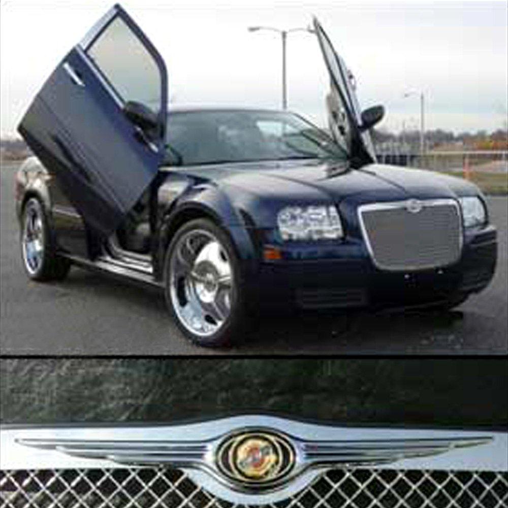 2005 2006 2007 2008 2009 2010 Chrysler 300 300c Black Mesh: Large Wing Bar Chrysler Emblem For Chrysler 300/300C 2005-2011