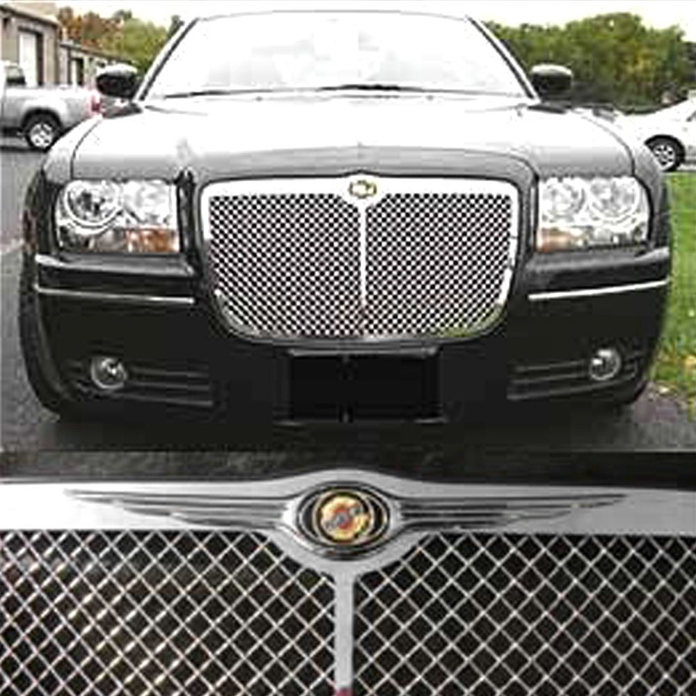 Black 2005 2006 2007 2008 2009 2010 Chrysler 300c: Large Wing Bar Chrysler Emblem For Chrysler 300/300C 2005-2011
