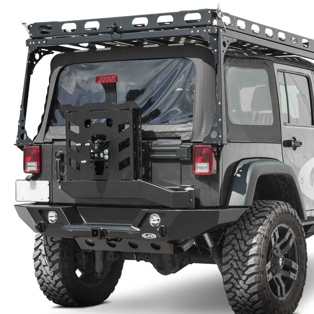 lod offroad jeep wrangler 2007 2017 destroyer full width rear hd bumper with tire carrier. Black Bedroom Furniture Sets. Home Design Ideas