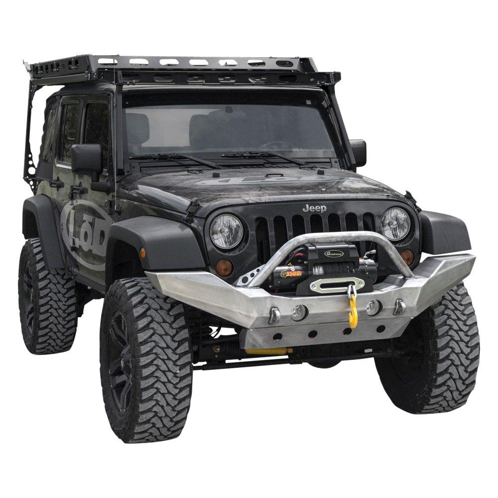 lod offroad jeep wrangler 2007 2017 destroyer full width front hd bumper. Black Bedroom Furniture Sets. Home Design Ideas