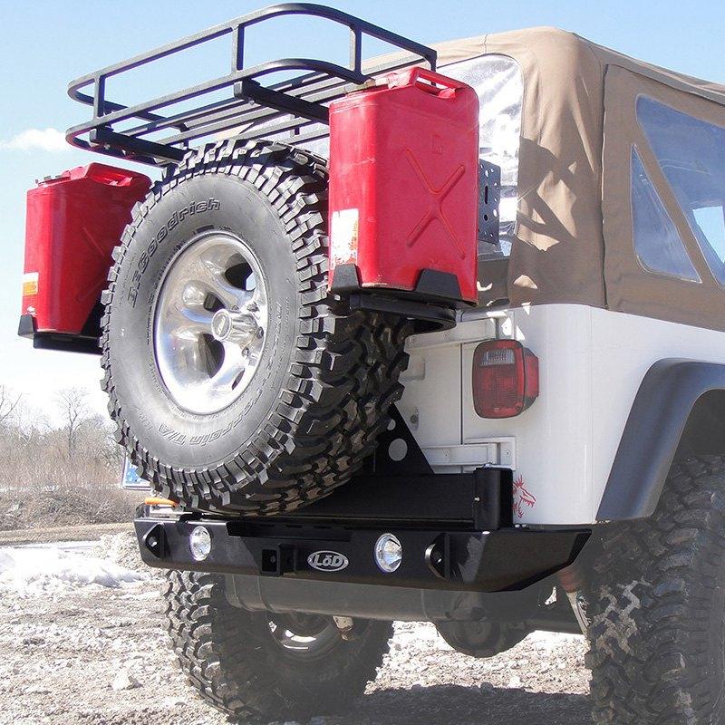 LoD Offroad®   Signature Series Full Width Rear HD Black Powder Coat Bumper