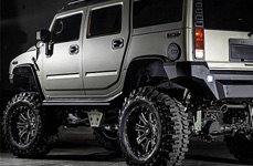 LRG® - 105 Black with Milled Accents on Hummer H2