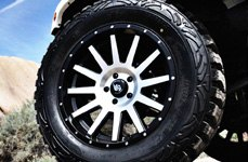 LRG® - 107 Satin Black with Machined Face on Jeep Wrangler