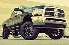 LRG® - 103 Black with Milled Accents on Dodge Ram 3500
