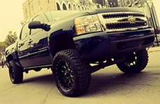 LRG® - 104 Black with Milled Accents on Chevy Silverado