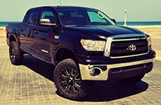 LRG® - 105 Black with Milled Accents on Toyota Tundra